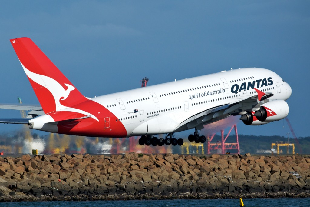 Qantas Aircraft Taking Off