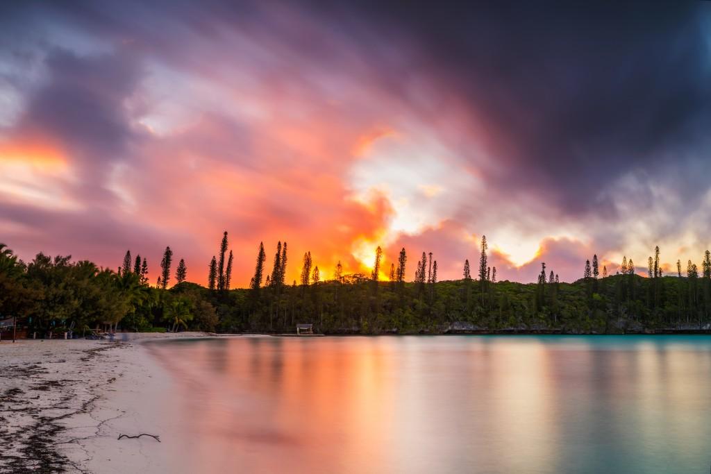 New Cal coast sunset