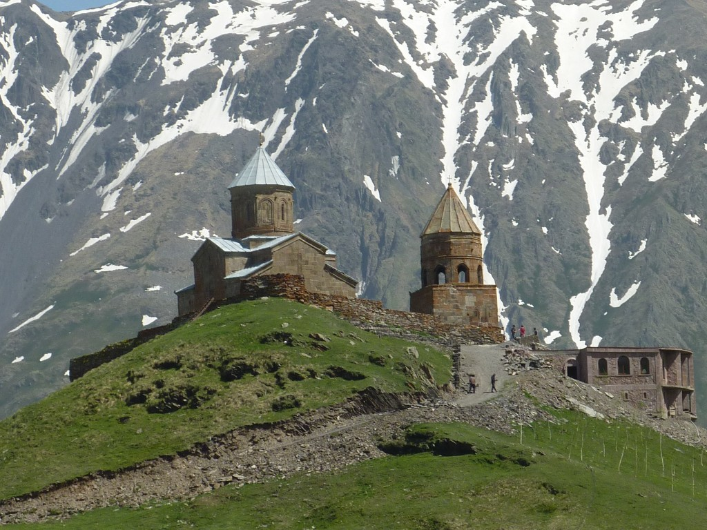 Gergeti Trinity Church, Georgia: give your clients a glimpse of it by booking