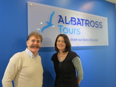 Albatross Tours - Euan Landsborough, Managing Director and Tour Designer with new General Manager Edwina Cooke