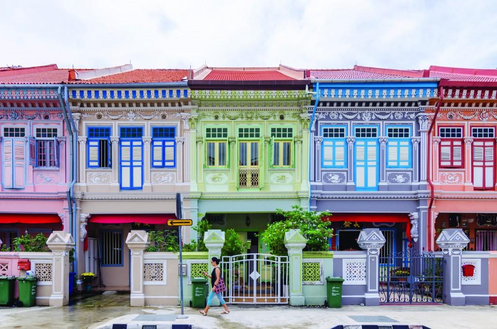 "Colorful ""Peranakan"" House at Singapore."