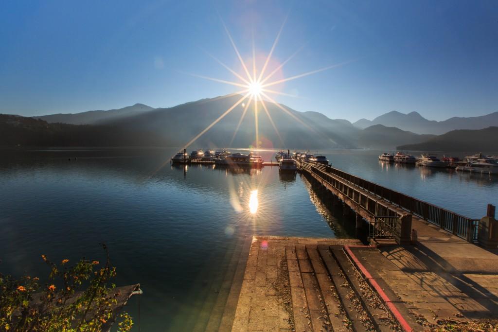 Sunrise in Sun Moon Lake ,Taiwan,Asia