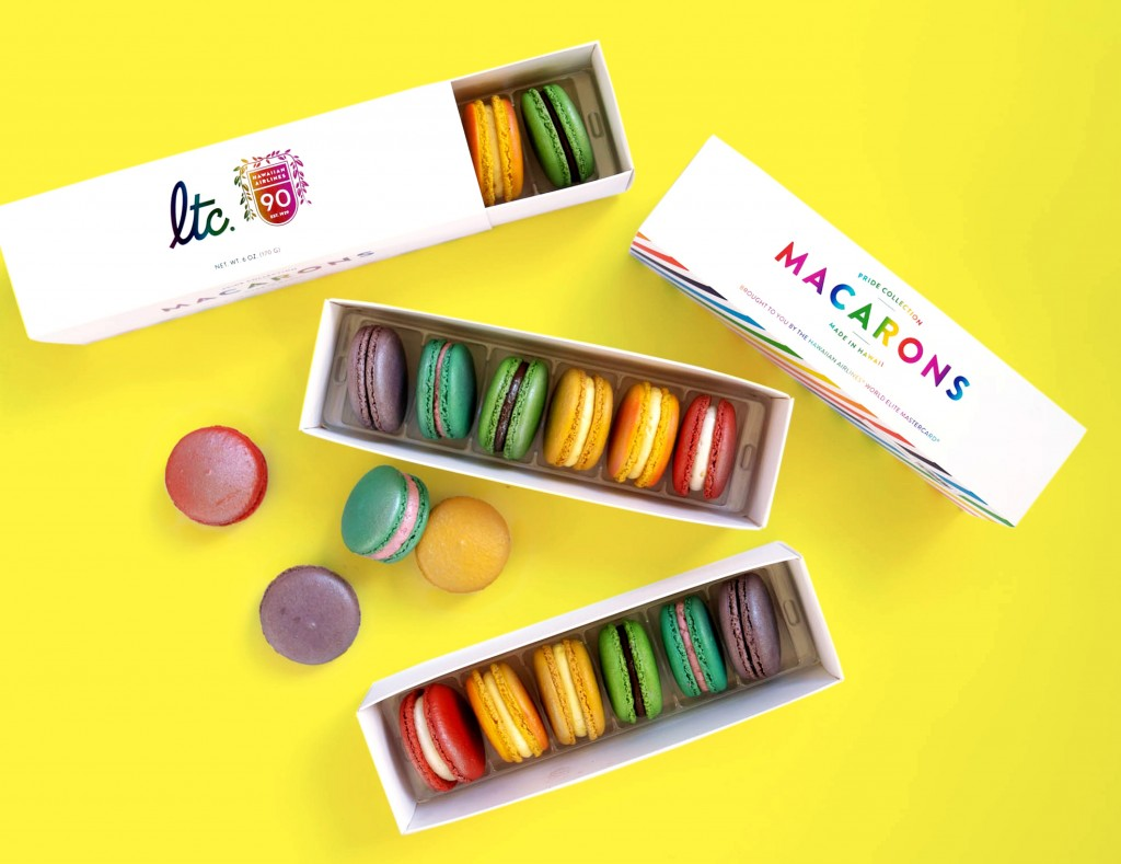 Pride Collection macarons (Hawaiian Airlines and La Tour Café)