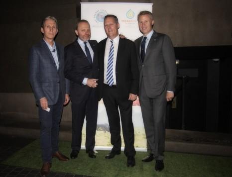 David Hosking (Co-founder of TreadRight Foundation), Brett Tollman (TTC CEO), Jayson Westbury (AFTA CEO) and John Veitch (TTC Australia CEO).