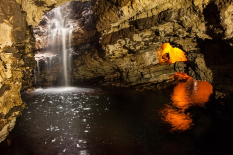 Waterfall in Smoo Cave, Durness, Scotland