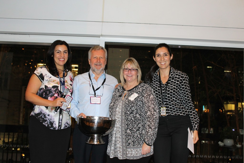 Prize winner Valma Herb from MTA Travel 3rd from right with (from left) Catherine de Giorgio from LATAM and Ted Dziadkiewicz and Michelle Mohaupt from ATALA