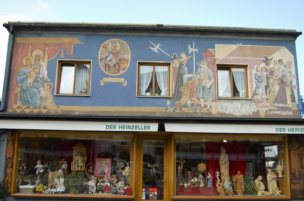 Collette. OBERAMMERGAU, GERMANY. September 21 2009 Traditional painted h...