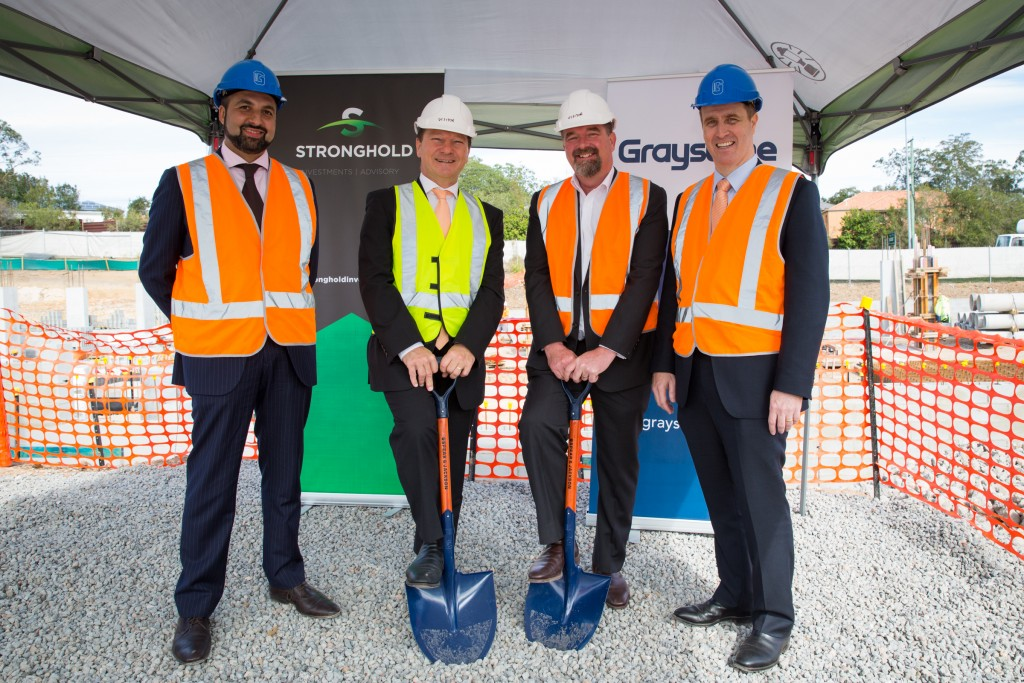 Quest Eight Mile Plains sod turning