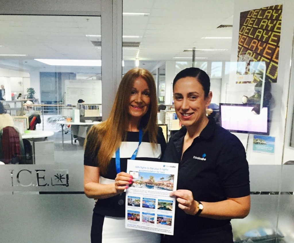 TravelCube winner Lisa White with Qld Sales Manager Shari Rokosuka_June 2016