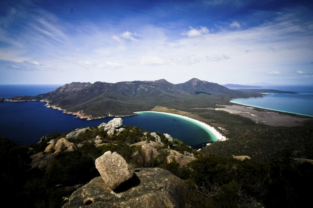 A limit on cruise vessels has been agreed voluntarily for visits to Wineglass Bay, Tasmania