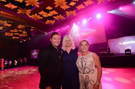 Shane Edwards, Stacey van den Akker (travel Key), Jane Royce (Qantas)