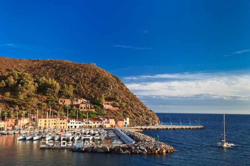 Port of Capraia Island, Tuscan Archipelago, Italy