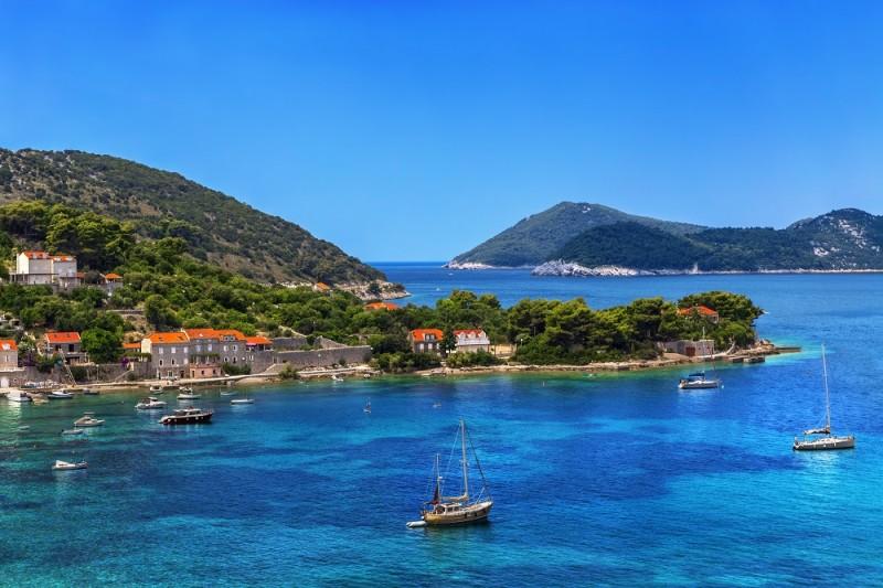 Croatia. South Dalmatia - Elaphiti Island. The island of Kolocep (Kalamota, Calamotta) situated near Dubrovnik city. Donje Celo settlement