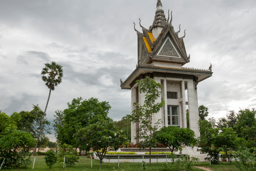 Killing Fields memorial in Cambodia