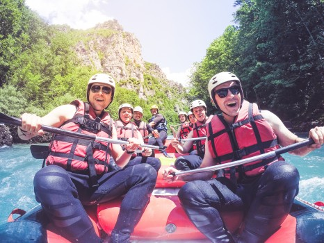 Rafting with friends