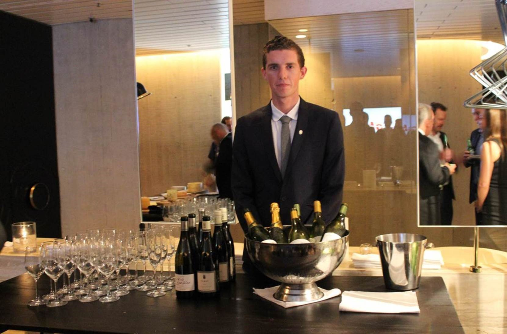 Sabre's guests took part in a wine and cheese tasting session hosted by Ivy.