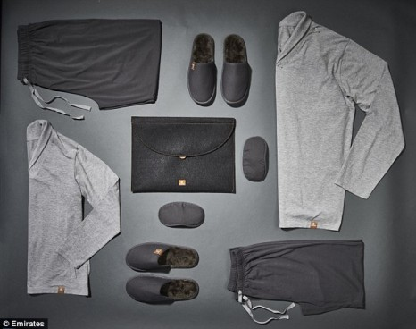 "Luxurious: Emirates has introduced ""moisturising pyjamas"" to their First Class range"