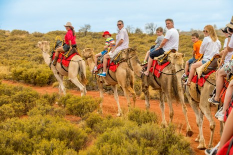 AAT Kings_Uluru Shindig camel riding