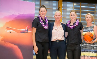 Hawaiian Airlines announced GIANTS Netball Official International Airlin...
