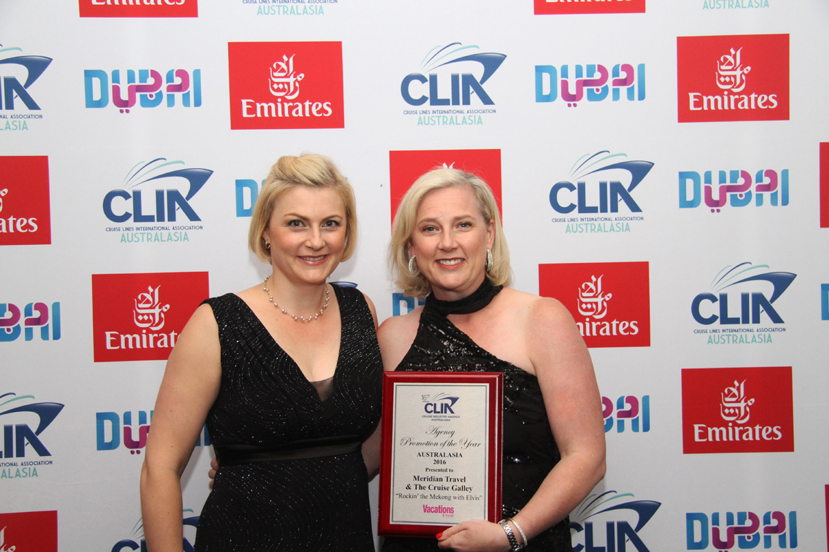 Kirsty Eccles (l) and Jodie Quick Meridian Travel & The Cruise Gallery Victoria
