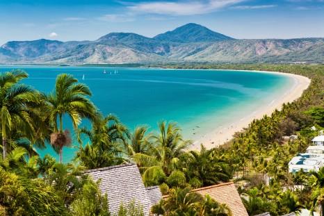 Port Douglas beach and ocean on sunny day, Queensland