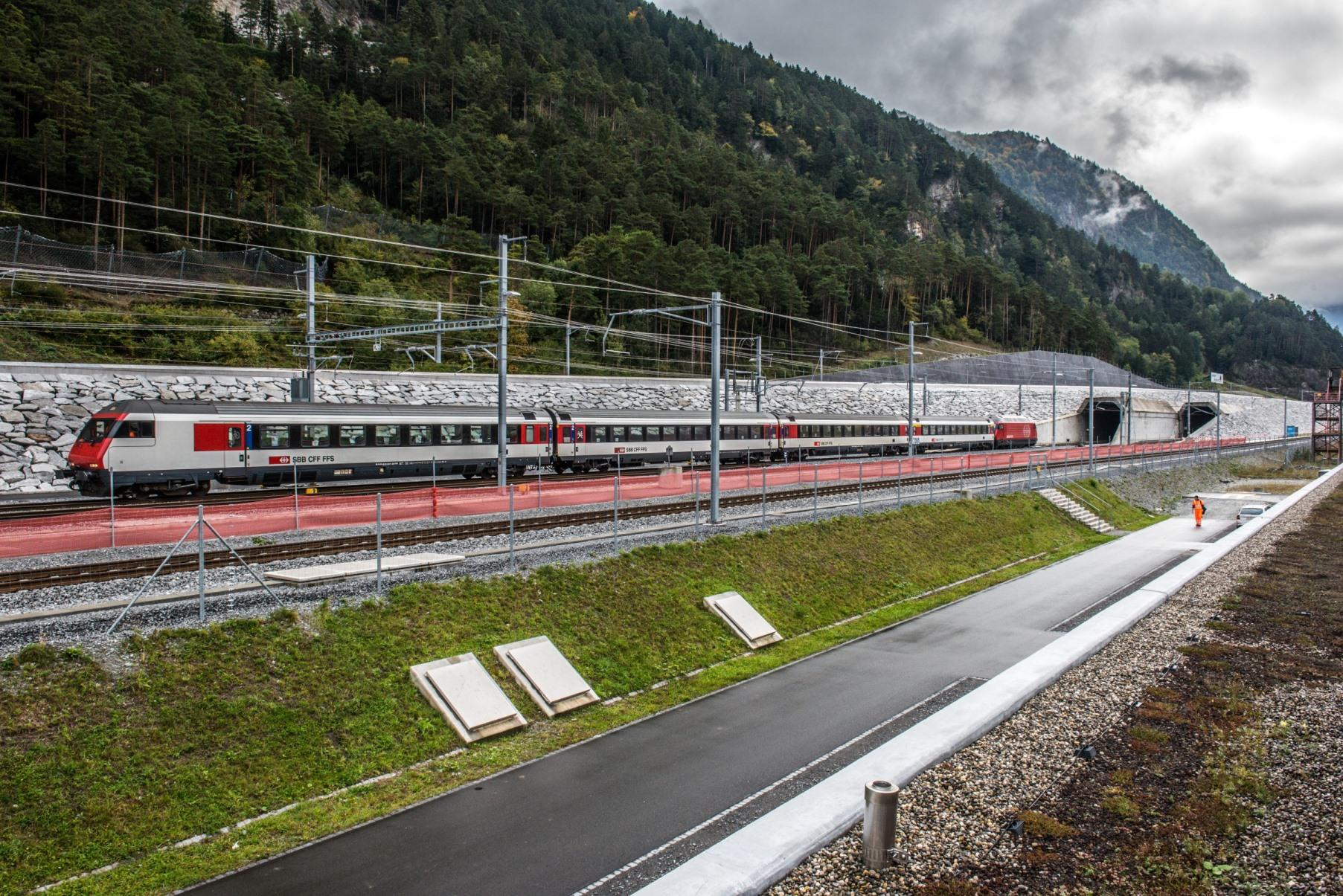 Inbetriebsetzung Nordportal Gotthard-Basistunnel, Erstfeld, Zentralschweiz / Commissioning Nordportal Gotthard Base Tunnel, Central Switzerland