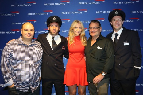 Daniel Beard, Helloworld Bankstown; British Airways pilots, Tara Harrison, Editor, Travel Weekly; Stephen Rowe, Out and About Travel