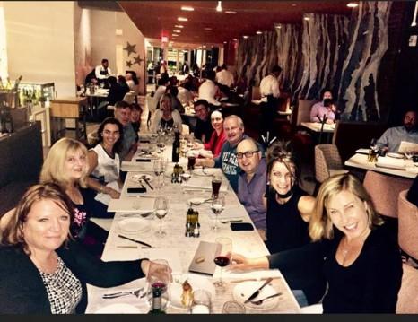Peska Fine dining seafood restaurant in Houston (from right going around the table) Maree Evans , Karen Dowling, Darren Christensen, Simon Laneres (GTA), Tanya Tyler , Mark Devers, Annette McHugh, Teena Hollwey (Travelcube ) John Lengacher, Lillie Smith, Joanne Haines.