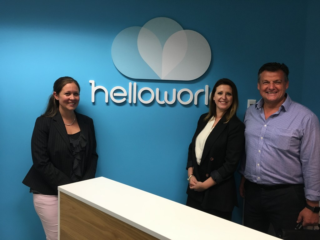 Vara Glover, Wendy Wu Tours head of sales; Catherine Allison, head of land, cruise & coach product & contracting for Helloworld; and John Warr, director of global sales Wendy Wu Tours.