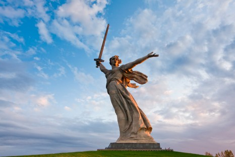 Motherland Calls Statue_Volgograd_Battle of Stalingrad 75th Anniversary Tour
