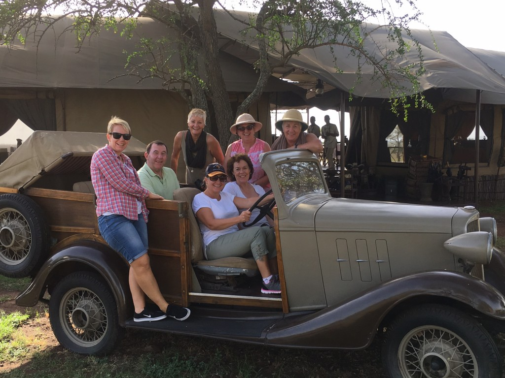 Back row (L-R): Tullie Seneca (Travel and Cruise Ceduna), Brian Bennett (Travel and Cruise Professionals), Viv Craig (Viv's Travel Bug), Kathy Granger (Burnie Travelcentre) and Jane Hammacott (Cairns Travel Professionals). Front row (L-R): Susie Potter (The Africa Safari Co) and Anni Baillieu (Moss Vale Cruise & Travel).