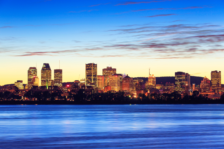 Montreal Skyline during sunset