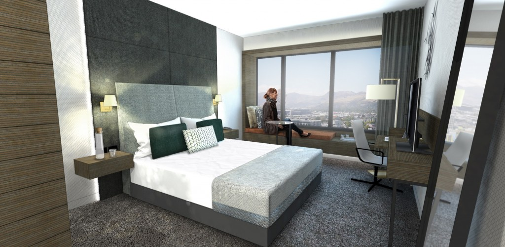 An artist's impression of a room at Crowne Plaza Christchurch