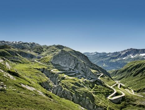 Switzerland. get natural. Tremola with panorama. Schweiz. ganz natuerlich. Tremola mit Panorama. Suisse. tout naturellement. Tremola avec panorama. Copyright by: Switzerland Tourism - By-Line: swiss-image.ch/Nico Schaerer