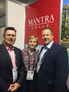 Luke Moran, Paula Maxwell Director of National Sales at Mantra Group and Peter Shelley.