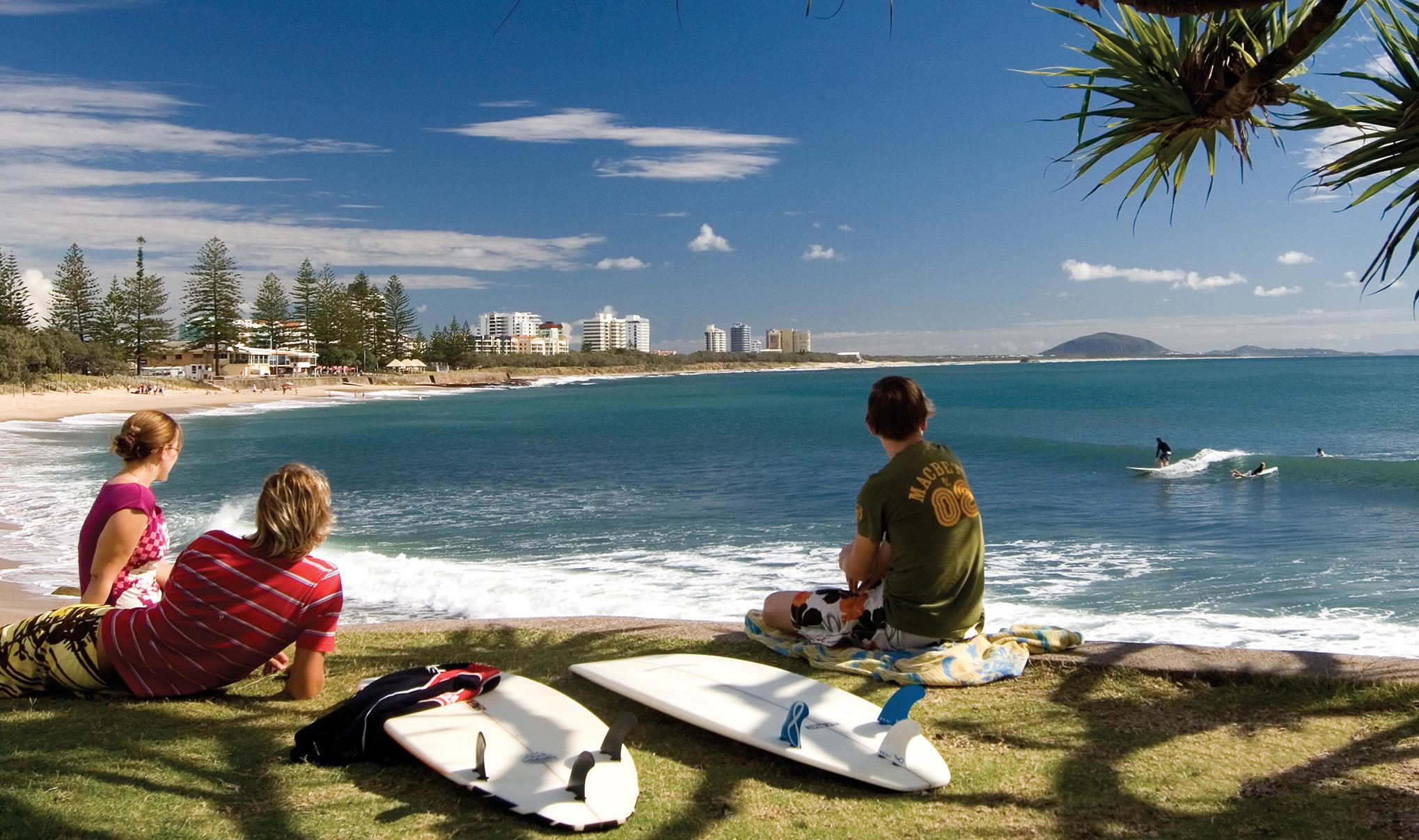Surfers at Alexandra Headland Sunshine Coast