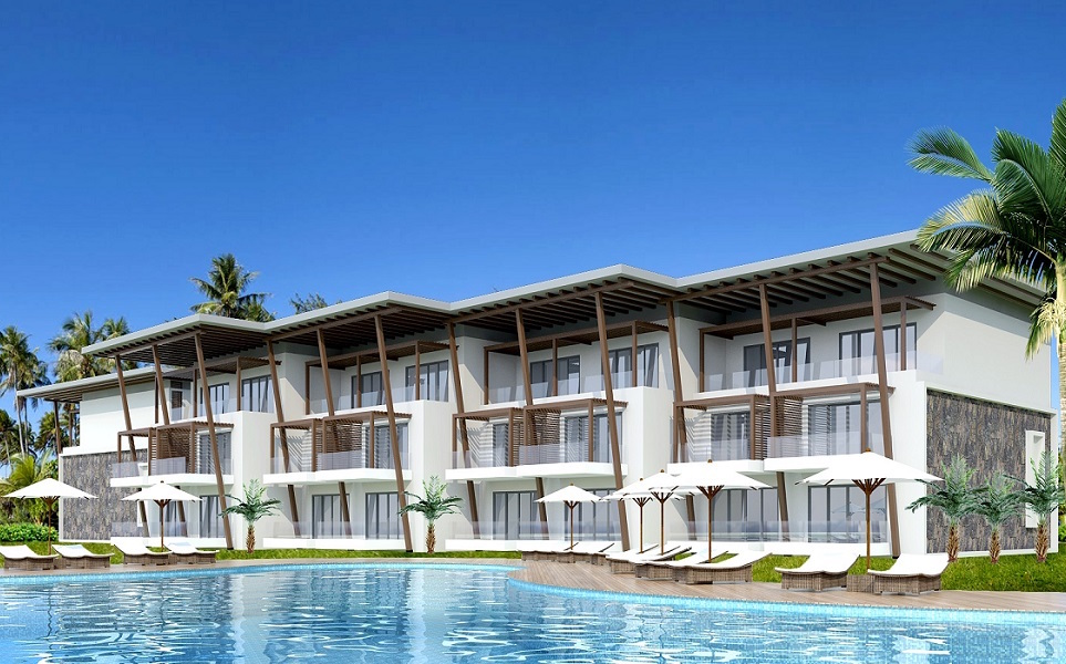 AVANI Bel-Ombre Mauritius Resort - pool and villas view rendering