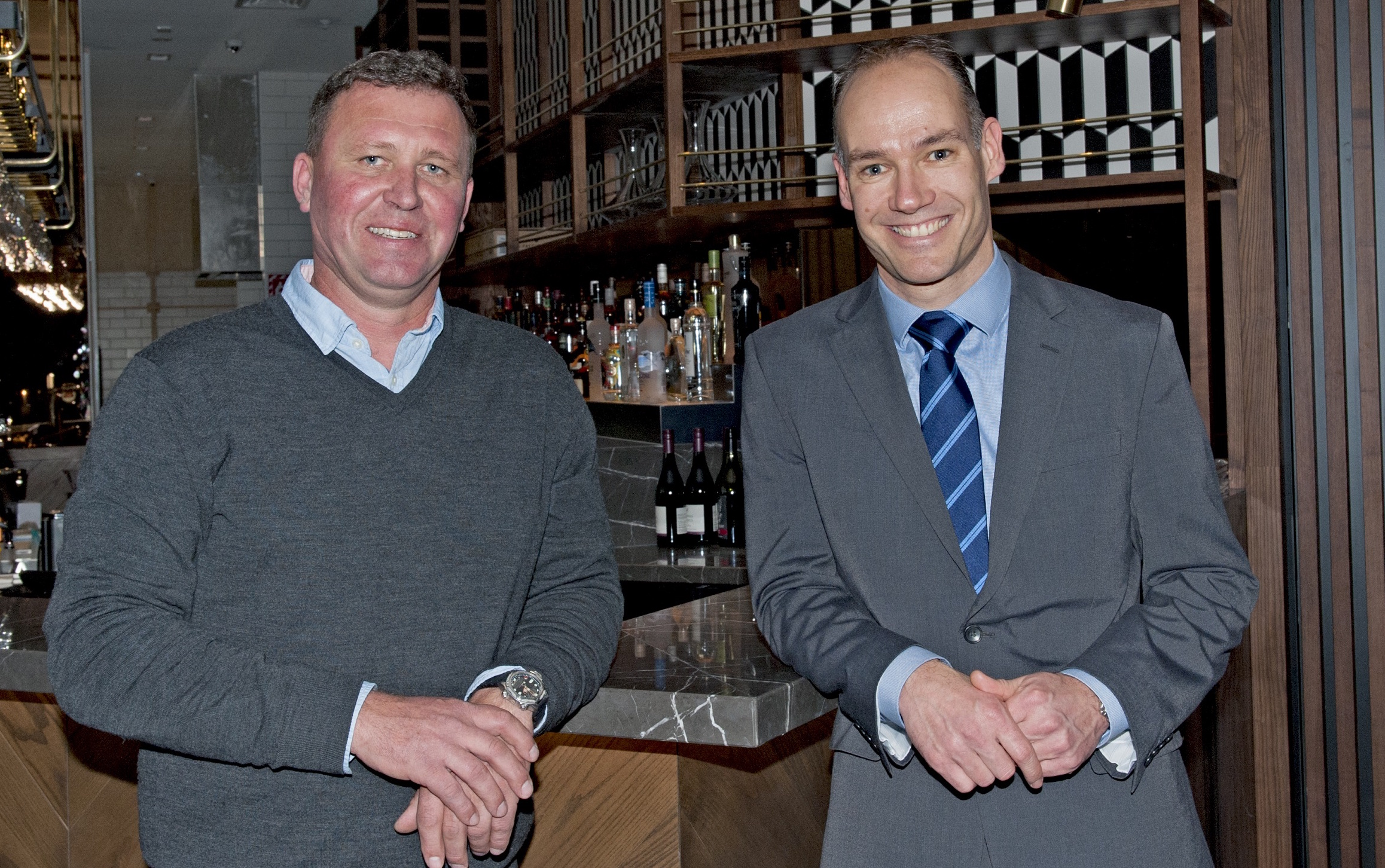 Crowne Plaza Christchurch owner Shane Le Compte and General Manager Reinier Eulink_Credit Antoinette Baker