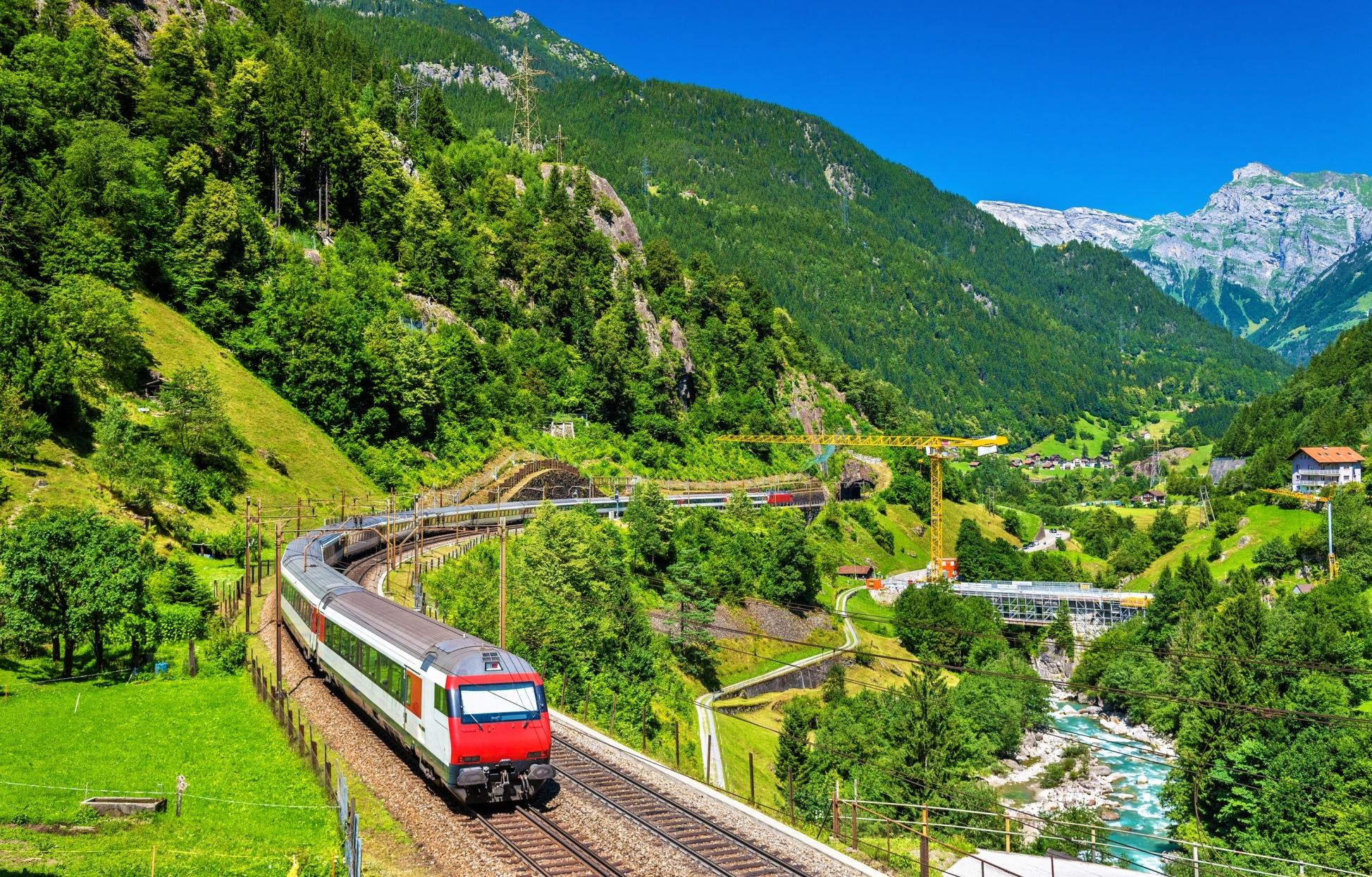 Gotthard railway Switzerland