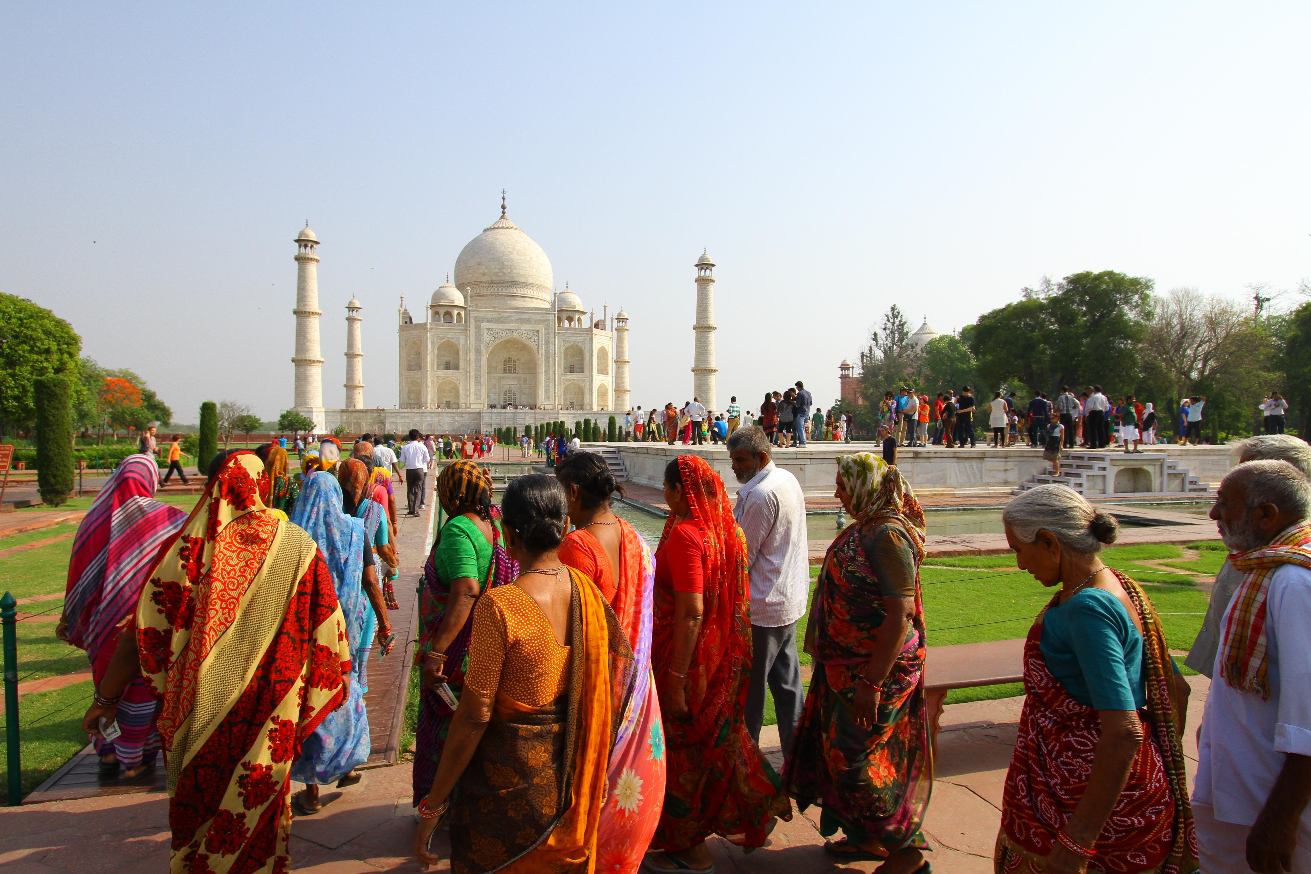 Taj visitors EF
