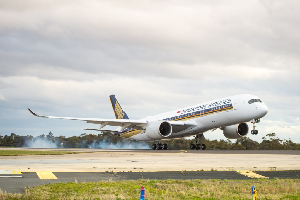 Brisbane Airport welcomes Singapore Airlines' A350 Trifecta