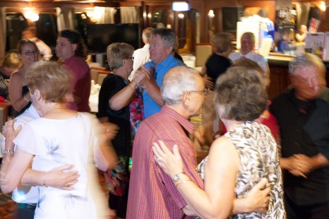 Dancing onboard the Murray Princess 1