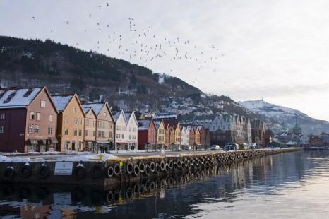 Norway, winter, Hurtigruten, Bergen