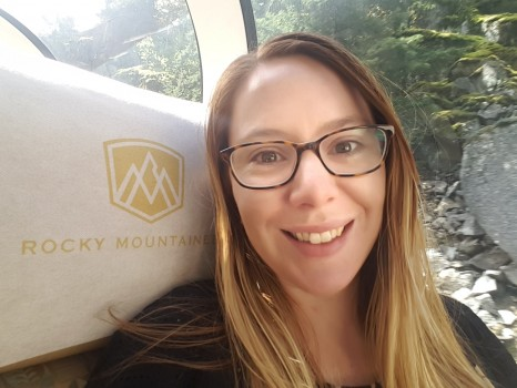 Ingrid and Rocky Mountaineer