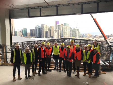 Novotel Melbourne South Wharf AUG 2017 - Hard-Hat Tour with PCOs