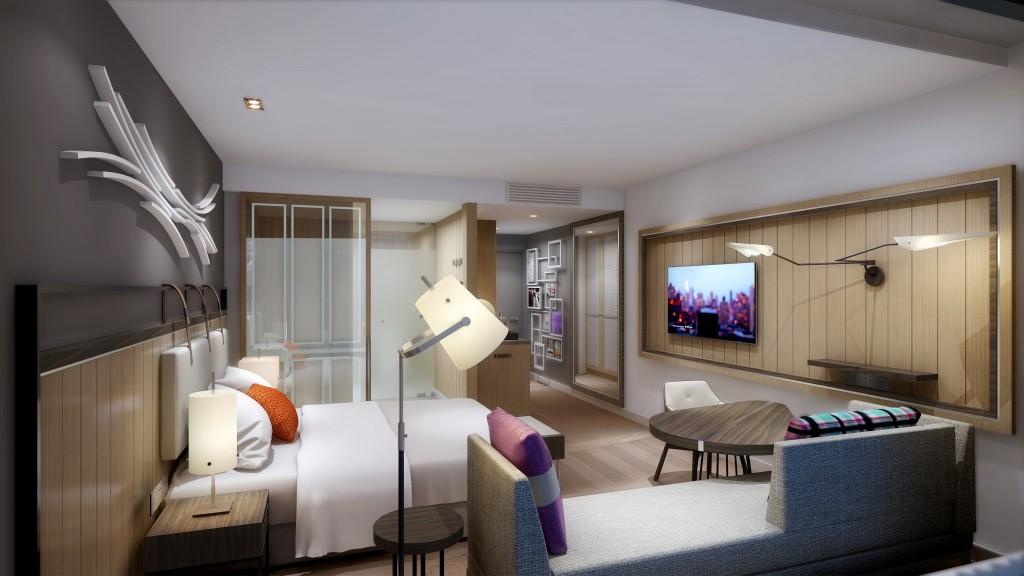 Sofitel Sydney Darling Harbour Hotel - Guestroom Bedroom_