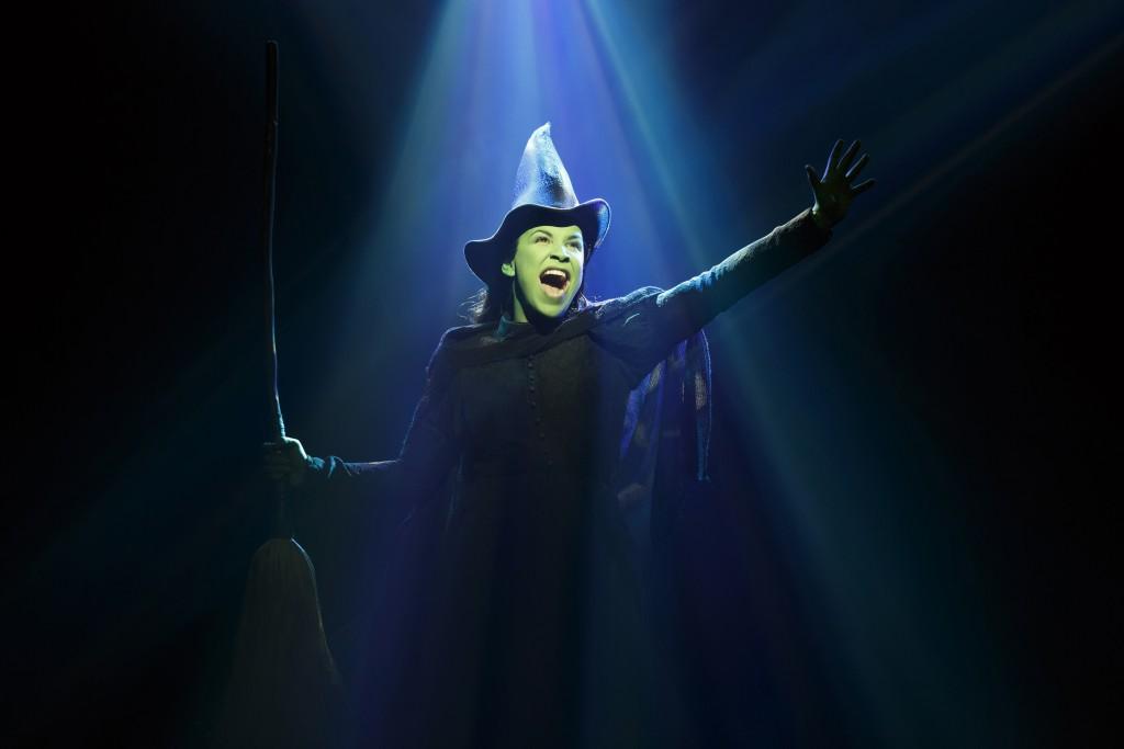 Wicked Gershwin Theatre Lindsay Mendez Katie Rose Clarke Derek Klena