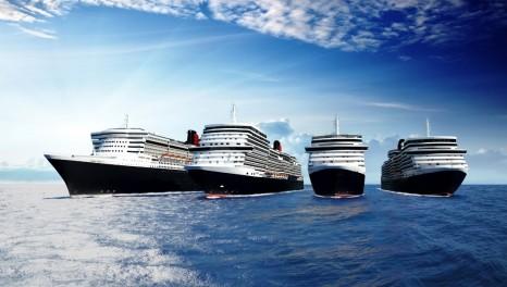 CUNARD FOUR SHIP FLEET