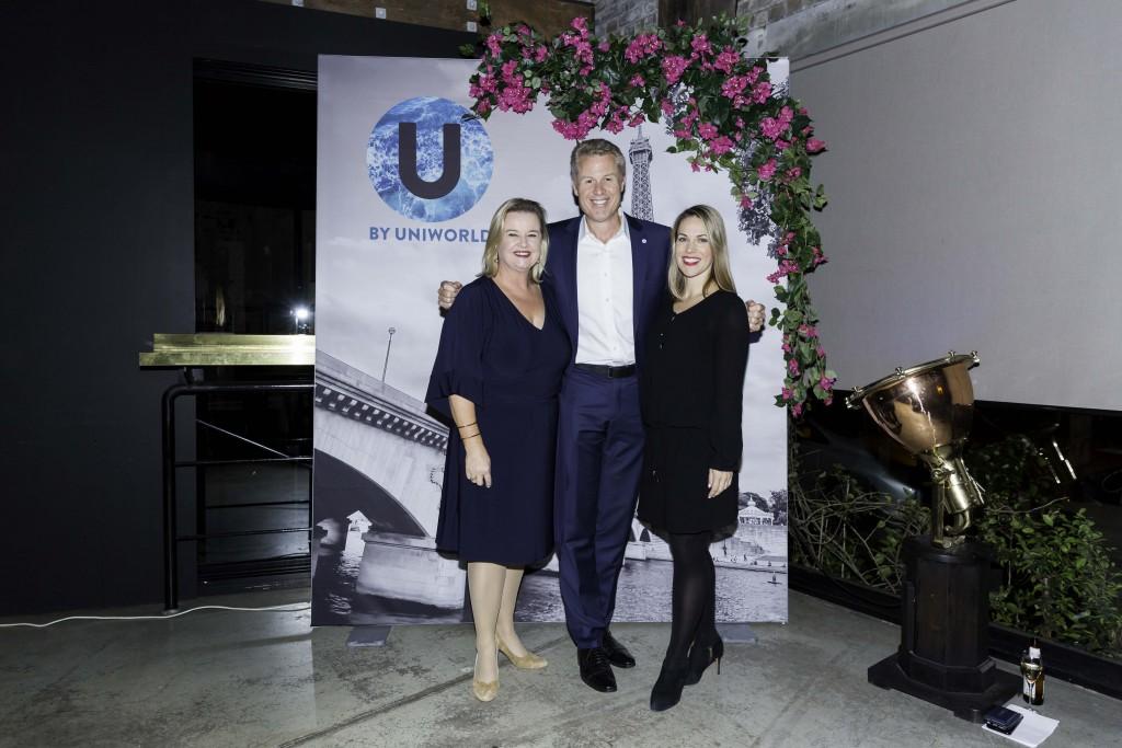 Fiona Dalton Uniworld MD, John Veitch TTC CEO and Katrina Barry Contiki MD