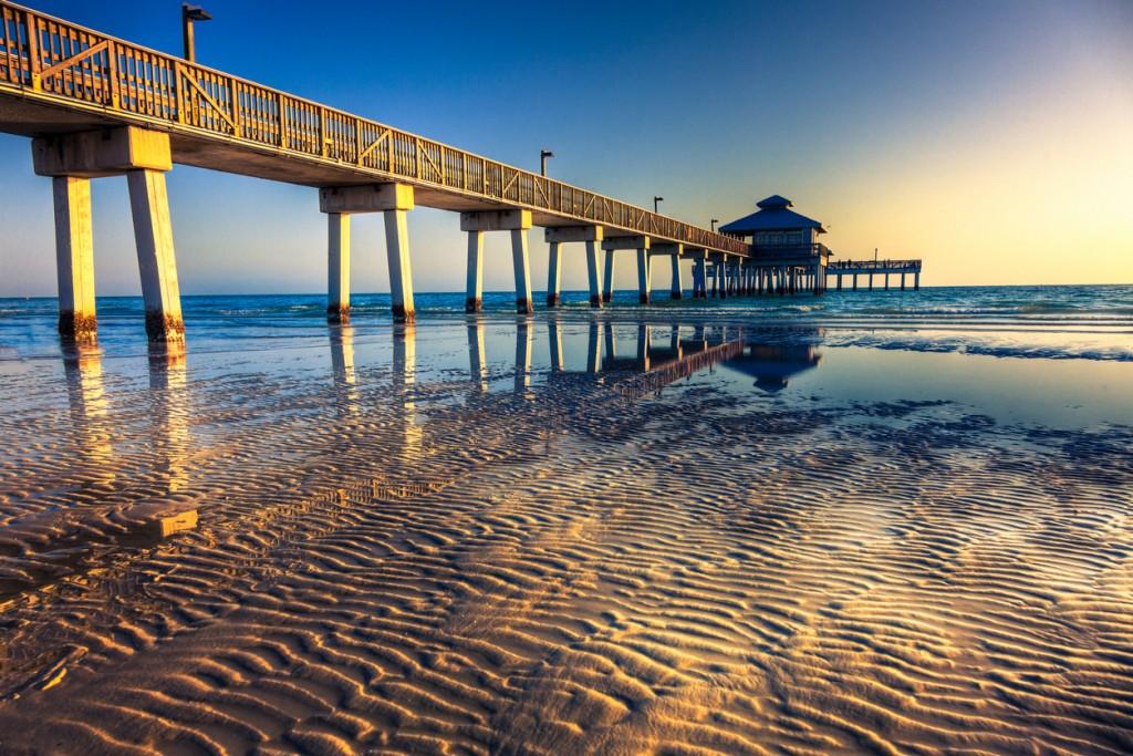 Fort Myers Beach pier, Florida, USA.